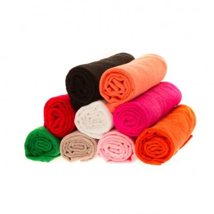 12 serviettes de coiffure éponge - Rouge