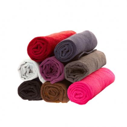 12 serviettes de coiffure éponge - Violet
