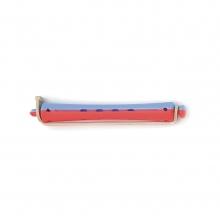 Bigoudis bi-color Tradition - 91 mm - bleu/rouge