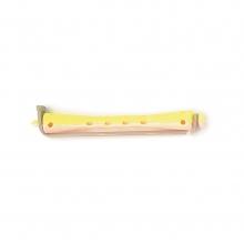 Bigoudis bi-color Tradition - 91 mm - jaune/rose