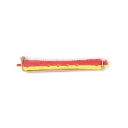 Bigoudis bi-color Tradition - 91 mm - jaune/rouge