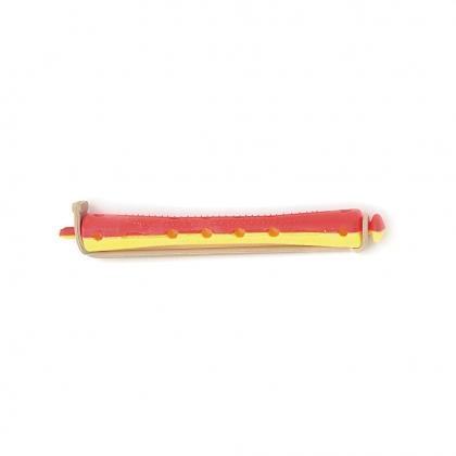 Bigoudis bi-color Tradition - 91 mm - jaune/rouge
