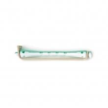 Bigoudis bi-color Tradition - 91 mm - vert/blanc