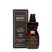 Conditioning Beard Oil - Leather & Wood No. 505 Depot - 300 ml