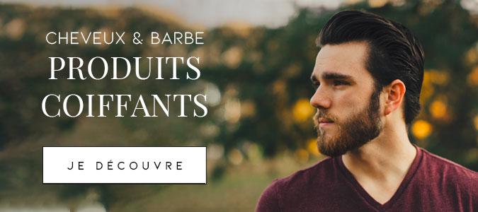 Produits coiffants cheveux et barbe pour homme