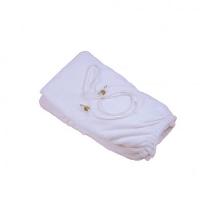 Housse table blanche T1 + trou visage