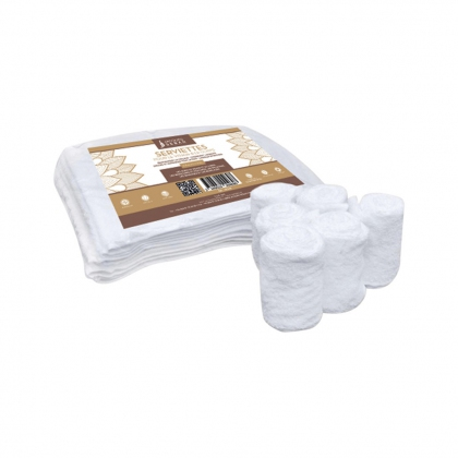 Lot de 6 serviettes blanches