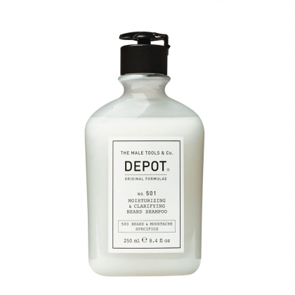 Moisturizing & Clarifying Beard Shampoo No. 501 - Depot - 250 ml