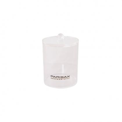 Pot rond simple transparent avec couvercle
