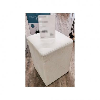 Pouf carré Dada skaï blanc