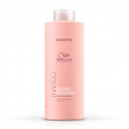 Shampooing Blonde Recharge Cool Blonde Invigo - Wella Professionals - 1 L