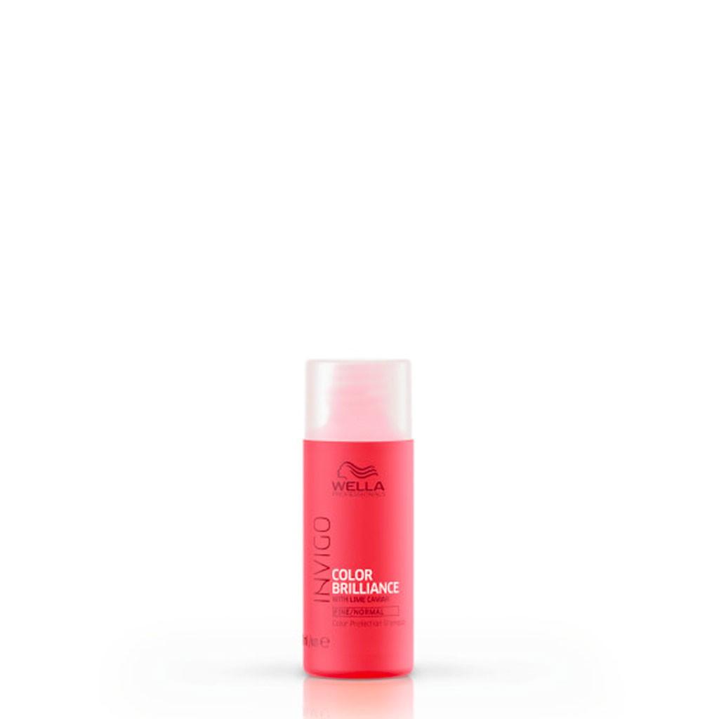 Shampooing Color Brilliance, cheveux fins Invigo - Wella Professionals - 50 ml