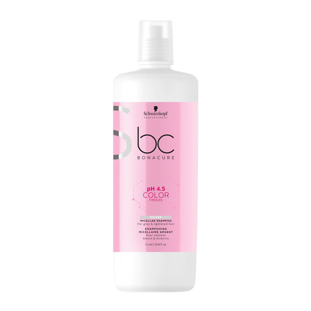 Shampooing micellaire argent pH 4.5 Color Freeze BC Bonacure - Schwarzkopf Professional - 1 L