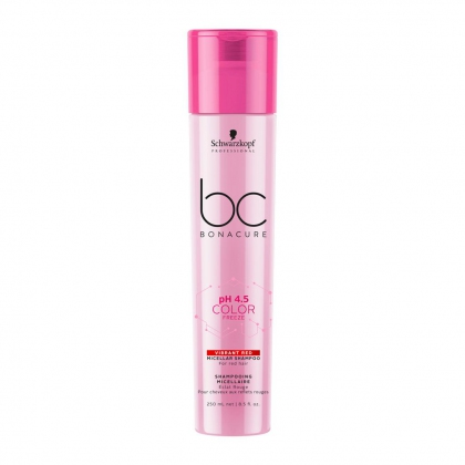 Shampooing micellaire Éclat Rouge pH 4.5 Color Freeze BC Bonacure - Schwarzkopf Professional - 250 ml
