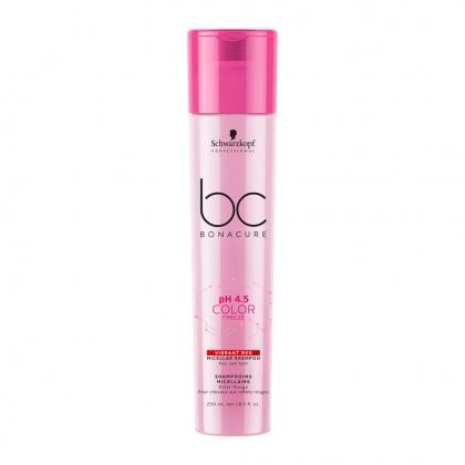 Shampooing micellaire Éclat Rouge pH 4.5 Color Freeze BC Bonacure - Schwarzkopf Professional - 250 ml