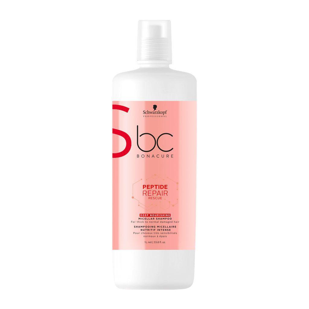 Shampooing micellaire Nutritif Peptide Repair Rescue BC Bonacure - Schwarzkopf Professional - 1 L